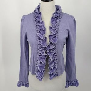 New INC Size Large Lavender Purple Shrug Cardigan